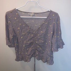 Purple flower t shirt